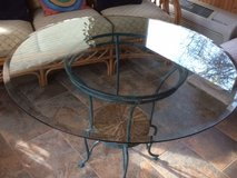 Glass and Rattan table with 4 chairs in Plainfield, Illinois
