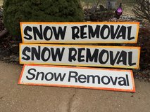 3 Snow Removal Signs in Fort Leonard Wood, Missouri
