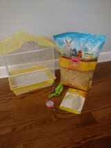 Bird cage and supplies for small pet bird in Chicago, Illinois
