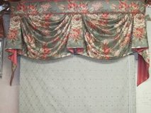 2 valances and matching coverlet in Naperville, Illinois
