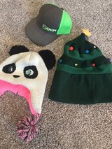 2 hats and 1 cap in Byron, Georgia