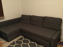 Couch with storage and turns into a bed in Ramstein, Germany