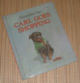 Vintage 1989 Carl Goes Shopping Children's Hard Cover Book in Plainfield, Illinois
