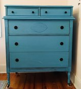 Blue Vintage Dresser in Camp Lejeune, North Carolina