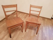 2 wooden chairs, chair, stool in Ramstein, Germany