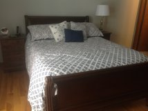Solid Wood, Queen size Sleigh Bed in Naperville, Illinois