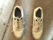 GOLF SHOES SIZE 11M - WHITE LEATHER MENS in Alamogordo, New Mexico