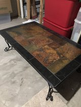 Slate and Wrought Iron Coffee Table in Glendale Heights, Illinois