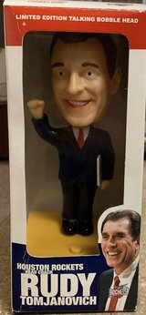BRAND NEW NEVER OPENED RUDY TOMJANOVICH LIMITED EDITION TALKING BOBBLE HEAD in Pasadena, Texas
