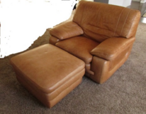 Real Leather Armchair with ottoman in Eglin AFB, Florida