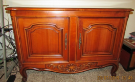TV Stand Solid Wood with Interior Shelf in Eglin AFB, Florida