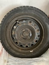 Set of 4 Cooper snow tires mounted on wheels in Westmont, Illinois