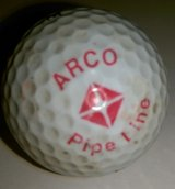 ARCO PIPELINE Logo on Golf Ball in Kingwood, Texas