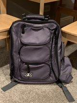 BRAND NEW - Diaper Dude Convertible Messenger/Backpack Diaper Bag. Charcoal Grey w/ turquoise in... in Naperville, Illinois