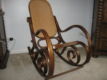 Vintage Adult Thonet Cane Back and Seat Bentwood Rocking Chair in Chicago, Illinois