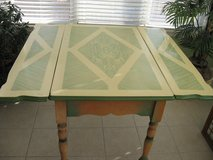 Vintage Porcelain Enamel Top Kitchen Table Antique Convertible 3 Sections in Sandwich, Illinois