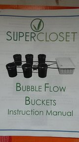 Bubble flow buckets hydroponic grow system in Yorkville, Illinois