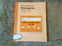 Handwriting Without Tears Kindergarten Teachers Guide + Letters & Numbers + Double Line Paper in Warner Robins, Georgia
