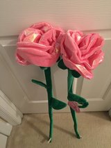 """2 NEW Bendable Pink Stuffed Roses 36"""" Valentines Day Plush Flowers in Camp Lejeune, North Carolina"""