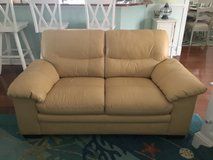 Leather Couch and Loveseat in Cherry Point, North Carolina