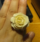 Ivory Rose Ring - Size 10/11 in Beaufort, South Carolina