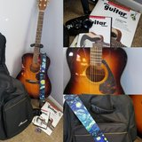 Acoustic guitar + accessories bundle in Oswego, Illinois