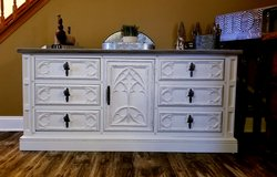Refinished 9 drawer Buffet / dresser/ TV Console in Plainfield, Illinois
