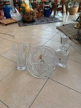 crystal decanter/pitcher/cake plate in Grafenwoehr, GE