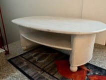 Table, wood, solid, white in Grafenwoehr, GE
