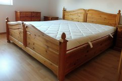 Solid Wood Country Style Bedroom Set Bed, Closet, Cabinets and Nightstands in Ramstein, Germany