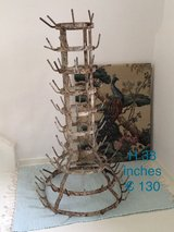 beautiful antique  French bottle drying rack in Ramstein, Germany