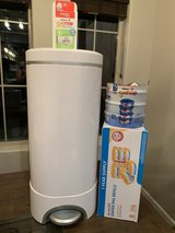 Munchkin Diaper Pail with a year's supply of liners (and more) in Alamogordo, New Mexico