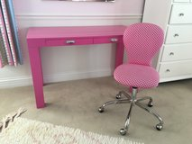 POTTERY BARN KIDS Pink Polka Dot Swivel Desk Chair in Aurora, Illinois