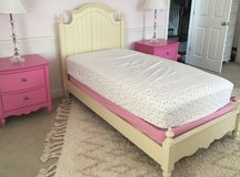 Girls Decorative Twin Bed Frame - Yellow in Aurora, Illinois
