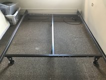 Full/queen metal adjustable bed frame in Plainfield, Illinois