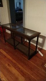 wood and glass entry/TV/sofa table in Alamogordo, New Mexico