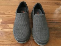 SKECHERS MENS RELAXED FIT CRESTON BARON GRAY KNIT MESH SLIP-ON LOAFERS SIZE 10M in Alamogordo, New Mexico