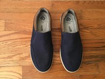 CLARKS CLOUDSTEPPERS MENS STEP ISLE NAVY SLIP-ON CANVAS SHOES SIZE 10M in Alamogordo, New Mexico