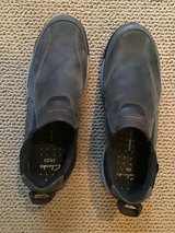 CLARKS MENS WAVE WALK SCREE GRAY WATERPROOF LEATHER SLIP ON SHOES SIZE 12M in Alamogordo, New Mexico