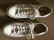 CONVERSE ALL STAR OFF-WHITE CANVAS SNEAKERS SIZE 10M in Alamogordo, New Mexico
