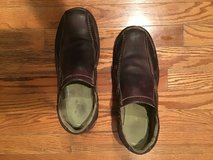 CLARKS MEN'S CHOCOLATE SENNER PINE SLIP ON SHOES SIZE 11.5M in Alamogordo, New Mexico
