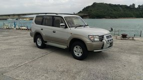 '98 Toyota Land Cruiser Prado 1KZ Diesel Turbo, Cold AC, New JCI, Glass Sunroof in Okinawa, Japan