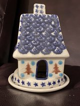 Polish Pottery Tea light House in Okinawa, Japan