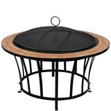 new never used Fire Pit Garden Firepit Brazier Square Mosaic Outdoor Patio Stylish Heater in Ramstein, Germany
