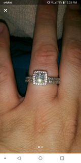 Sterling Silver CZ wedding set in Fort Polk, Louisiana