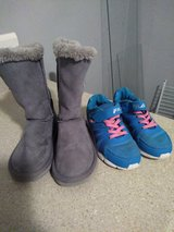 Girl Filas size 12 and boots size 11 in Leesville, Louisiana