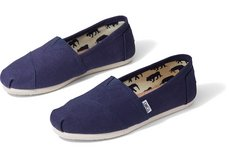TOMS Navy Blue Canvas Men's Classic Size 11 001001A0-NEW w/tags in bag in Spangdahlem, Germany