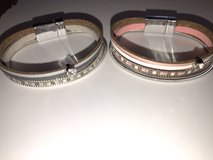 New Leather and Metal Bracelets with Magnetic Closure - 2 Colors available in Bolingbrook, Illinois