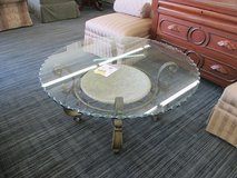 Scalloped-edge Glass Topped Coffee Table in Chicago, Illinois