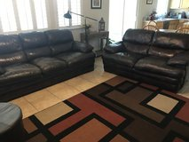 Leather sofa & loveseat in Travis AFB, California